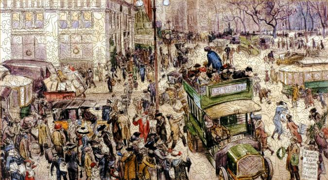 Christmas Shoppers, Madison Square - Liberty Puzzles - 7