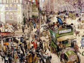 Christmas Shoppers, Madison Square - Liberty Puzzles - 2