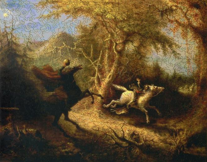 The Headless Horseman Pursuing Ichabod Crane - Liberty Puzzles - 7