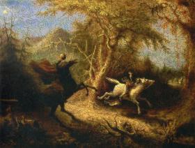 The Headless Horseman Pursuing Ichabod Crane - Liberty Puzzles - 2