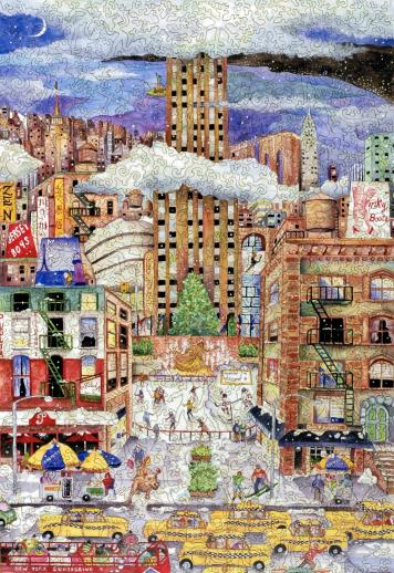 Light Snowfall in New York - Liberty Puzzles - 7