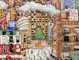 Light Snowfall in New York - Liberty Puzzles - 2
