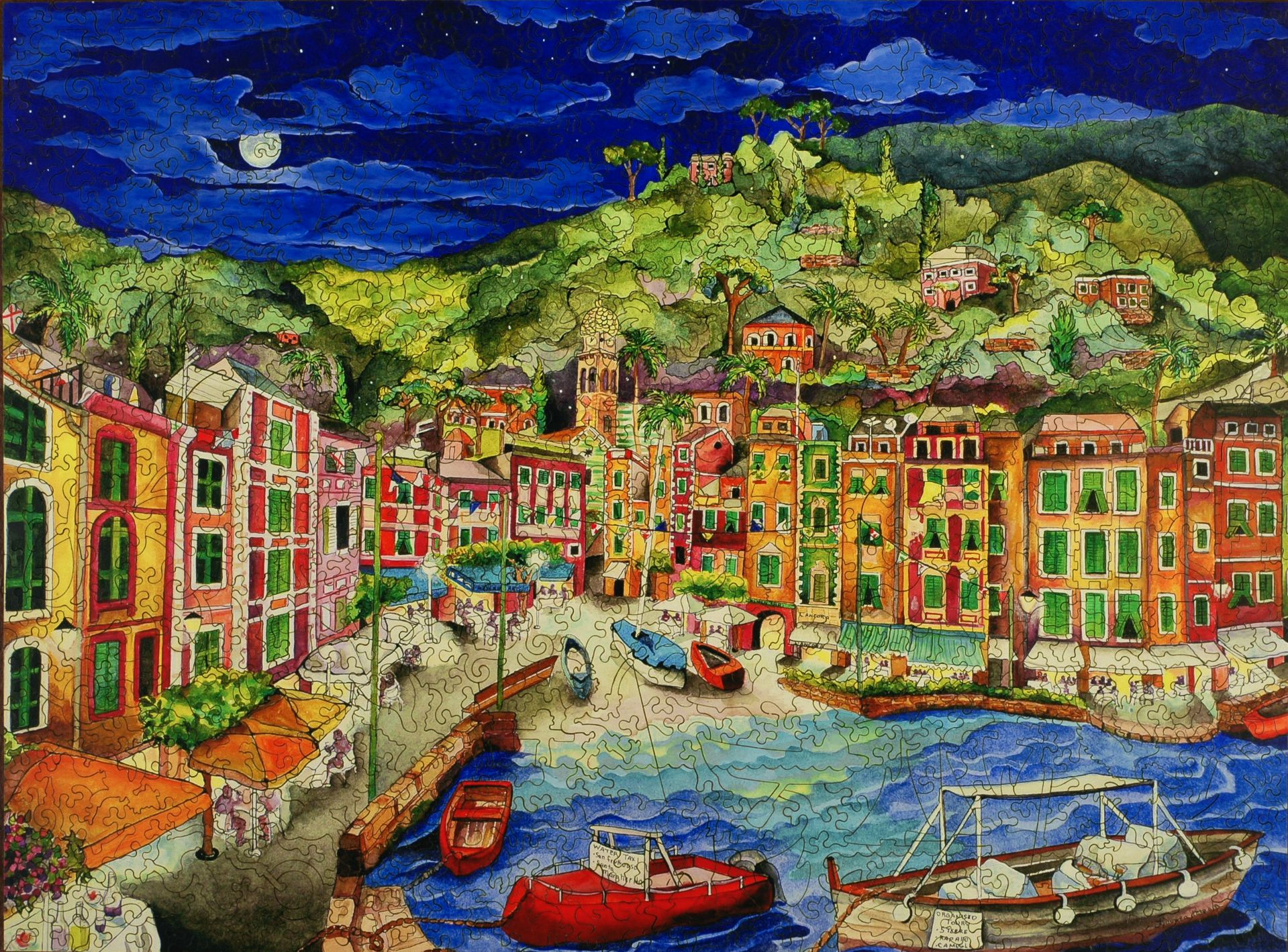 portofino italy wooden jigsaw puzzle liberty puzzles made in