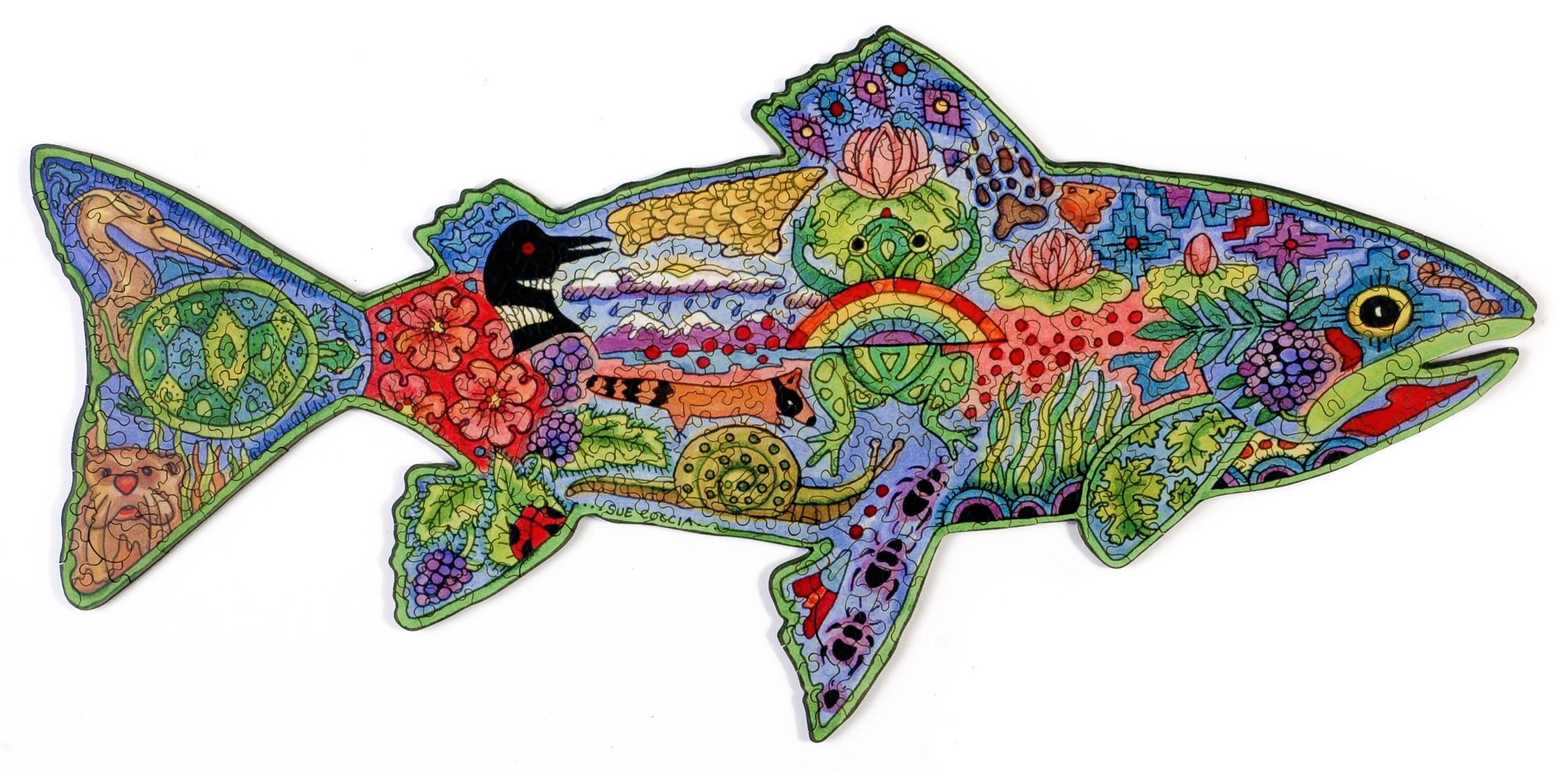 Rainbow Trout Wooden Jigsaw Puzzle Liberty Puzzles