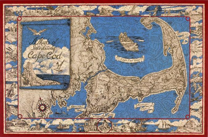 A Map of Interesting Cape Cod - Liberty Puzzles - 10