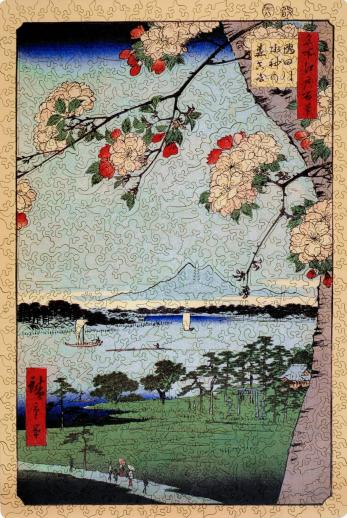Suijin Shrine and Massaki on the Sumida River - Liberty Puzzles - 9