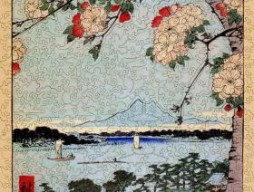 Suijin Shrine and Massaki on the Sumida River - Liberty Puzzles - 2