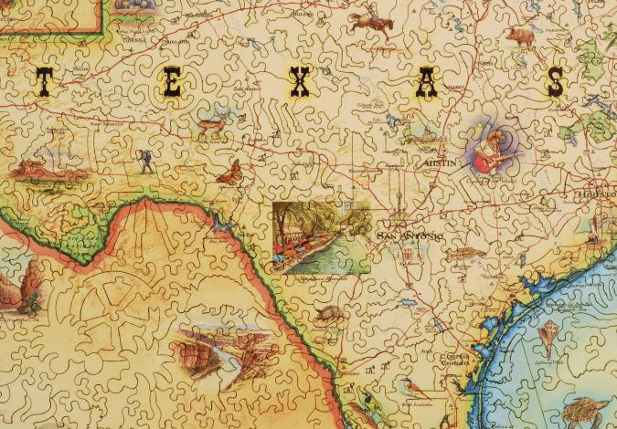 Texas Map - Liberty Puzzles - 7