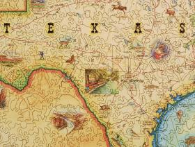 Texas Map - Liberty Puzzles - 2