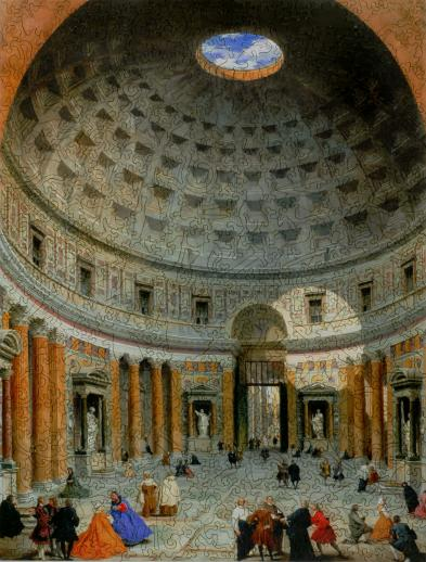 Interior of the Pantheon, Rome - Liberty Puzzles - 7