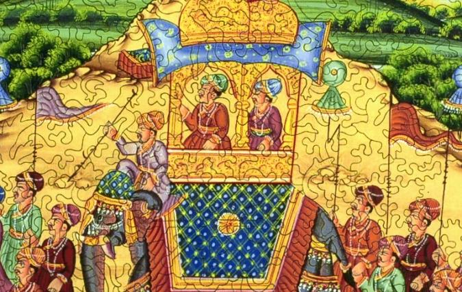 Procession of Akbar, King of the Mughals - Liberty Puzzles - 8