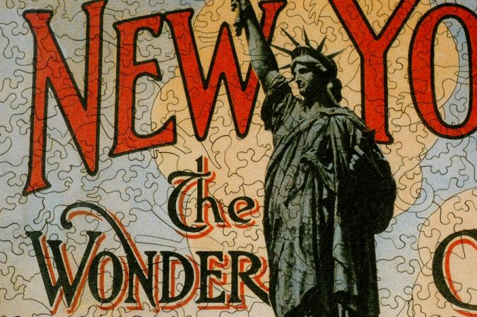 New York the Wonder City - Liberty Puzzles - 8