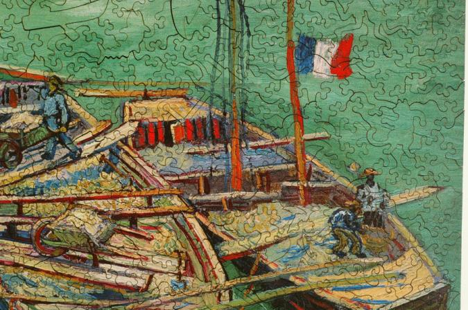 Barges on the River Rhone - Liberty Puzzles - 8