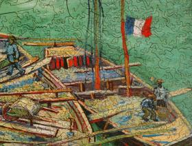 Barges on the River Rhone - Liberty Puzzles - 3