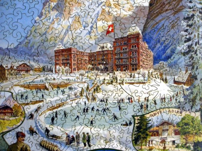 Grindelwald Winter Sport - Liberty Puzzles - 8