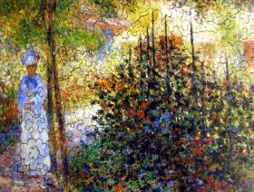 Camille Monet in the Garden - Liberty Puzzles - 3