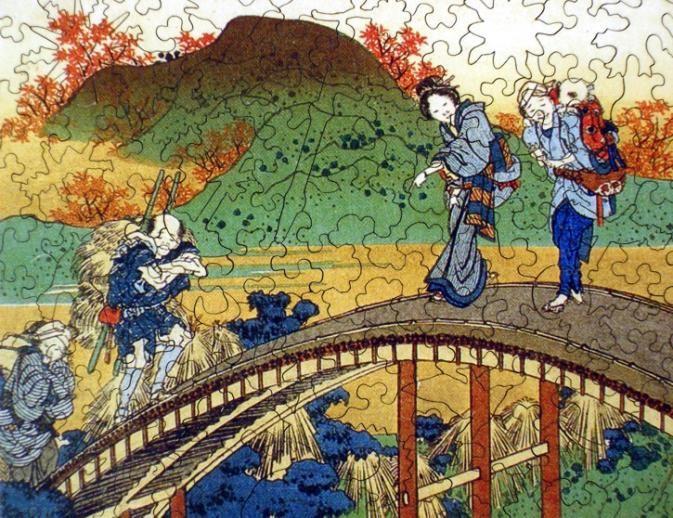 People Crossing an Arched Bridge - Liberty Puzzles - 8