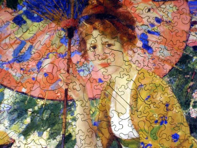 Red-Headed Girl with Parasol - Liberty Puzzles - 8