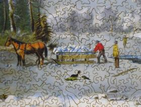 Winter in the Country: Gathering Ice - Liberty Puzzles - 3