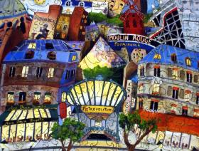 april in paris wooden jigsaw puzzle liberty puzzles made in the usa. Black Bedroom Furniture Sets. Home Design Ideas