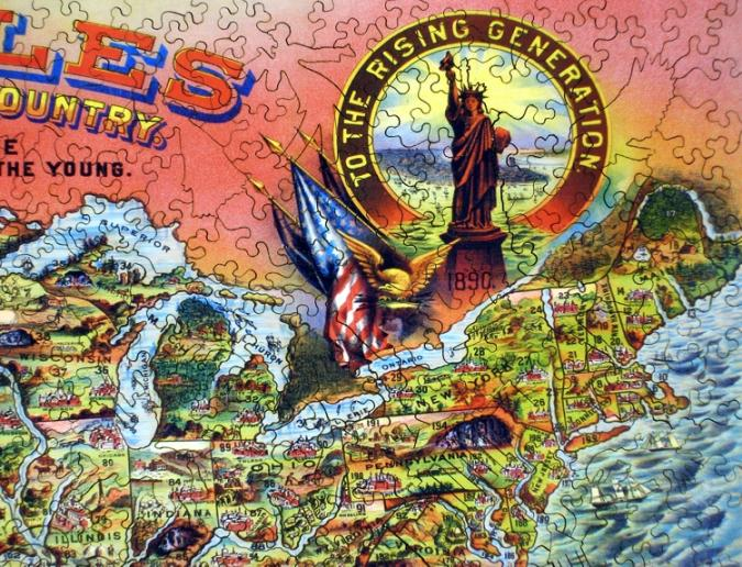 Rambles Through Our Country - Liberty Puzzles - 8
