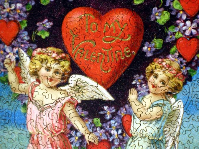 Valentine with Cherubs - Liberty Puzzles - 8
