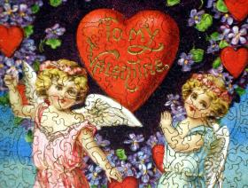 Valentine with Cherubs - Liberty Puzzles - 3