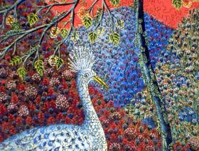 peacock-with-locusts-closeup-750.jpg #3