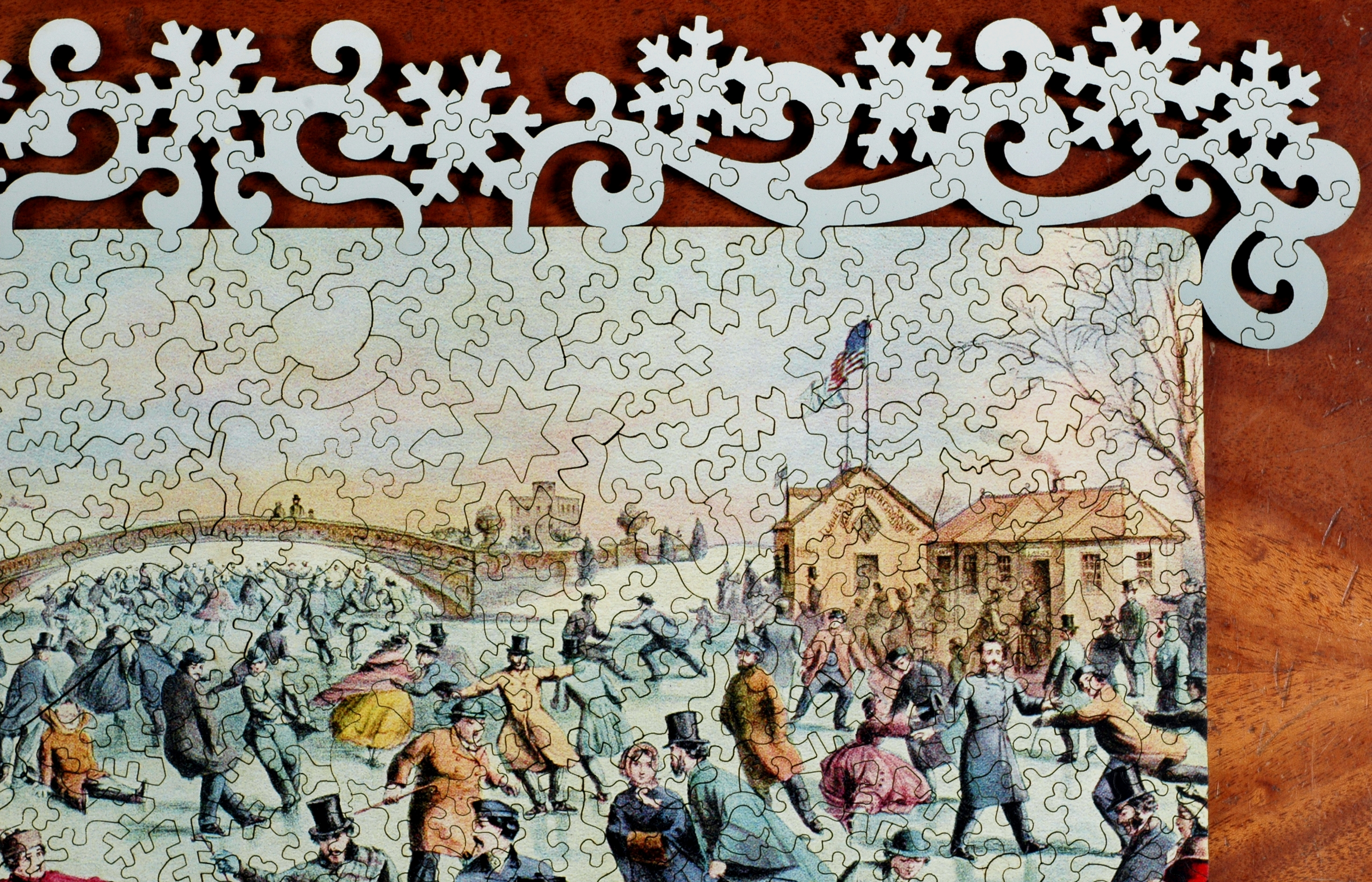 Central Park Winter Wooden Jigsaw Puzzle Liberty