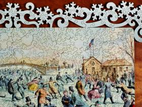Central Park, Winter - Liberty Puzzles - 3
