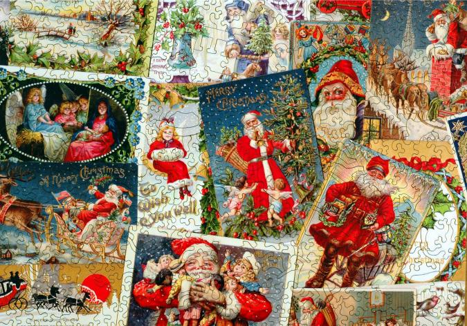 Vintage Christmas Postcards - Liberty Puzzles - 8