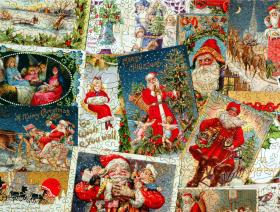 Vintage Christmas Postcards - Liberty Puzzles - 3