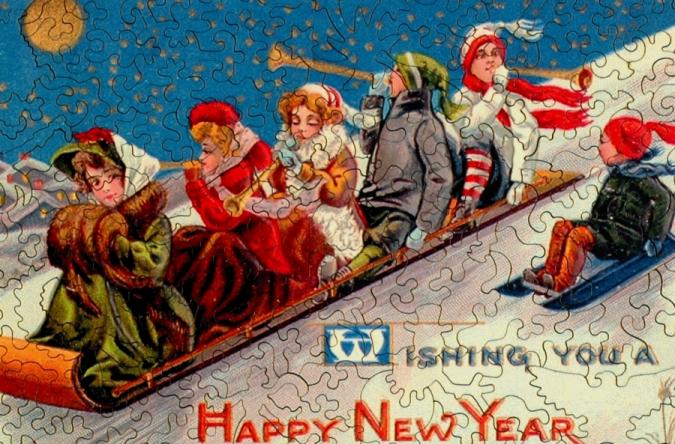 New Year's Toboggan - Liberty Puzzles - 8