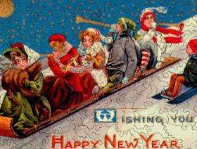 New Year's Toboggan - Liberty Puzzles - 3