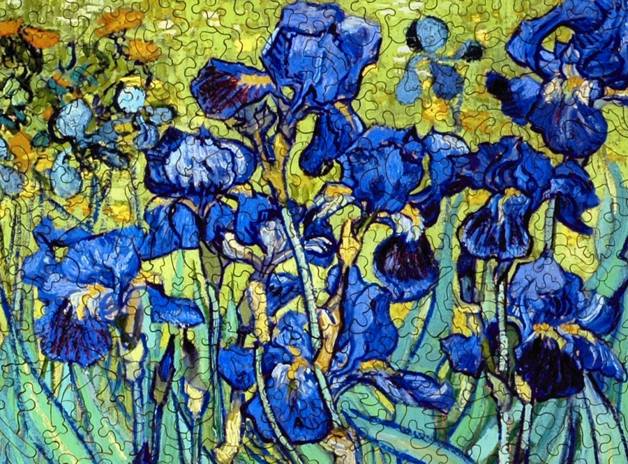 Irises Wooden Jigsaw Puzzle Liberty Puzzles Made In