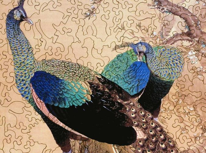 A Pair of Peacocks in the Spring - Liberty Puzzles - 8