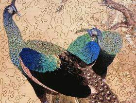 A Pair of Peacocks in the Spring - Liberty Puzzles - 3
