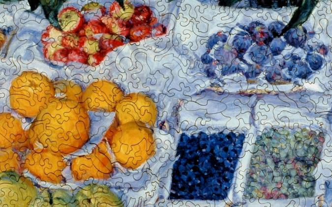 Fruit Displayed on a Stand - Liberty Puzzles - 8