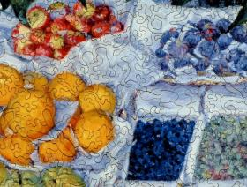 Fruit Displayed on a Stand - Liberty Puzzles - 3