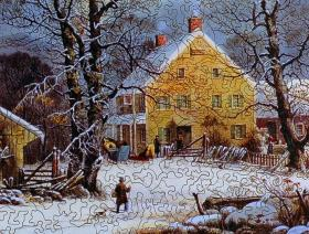Winter in the Country, A Cold Morning - Liberty Puzzles - 3