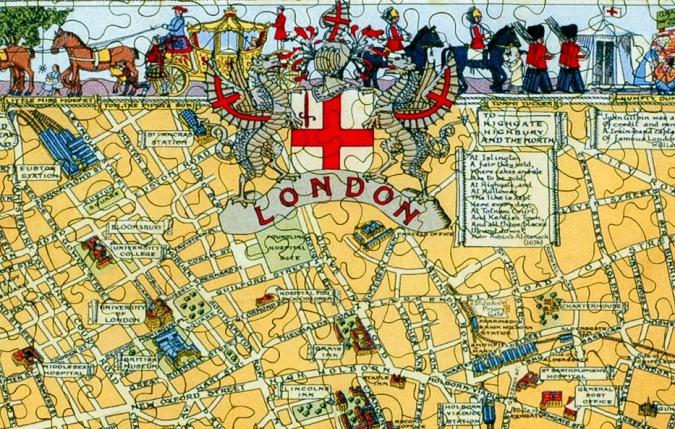 Map of London Large Piece - Liberty Puzzles - 8