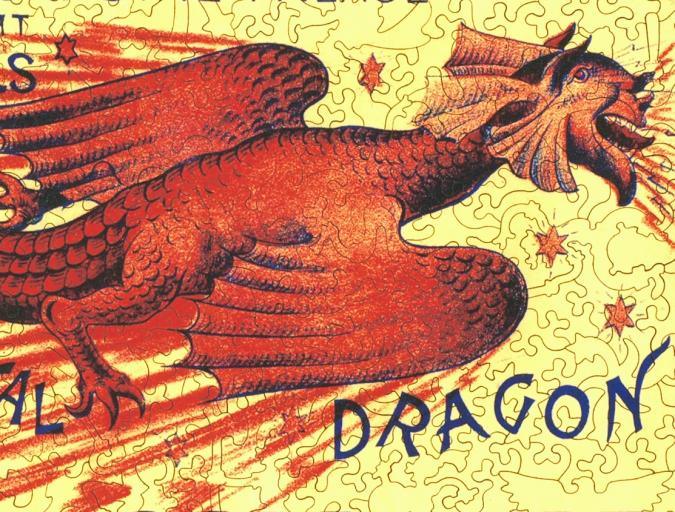 Flying Diabolical Dragon - Liberty Puzzles - 8