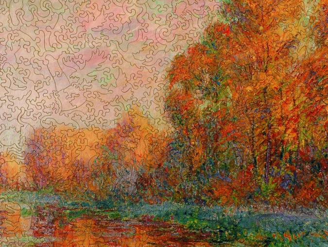 A River in Autumn - Liberty Puzzles - 8