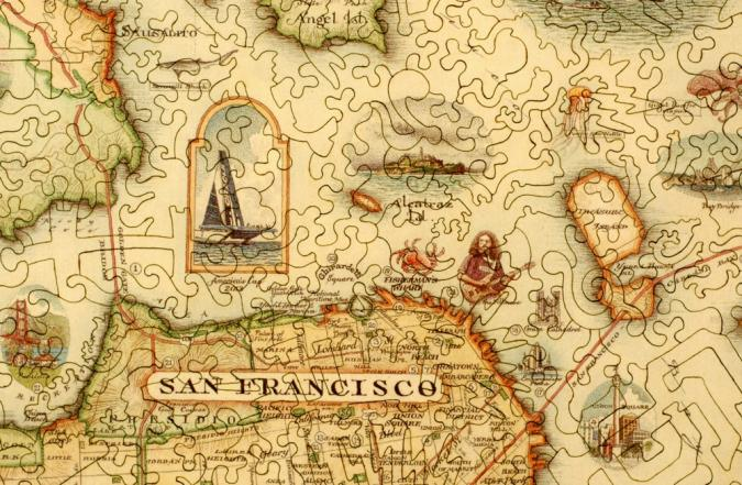 San Francisco Bay Map - Liberty Puzzles - 8