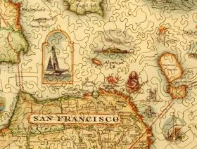 San Francisco Bay Map - Liberty Puzzles - 3