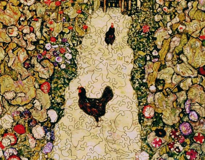 Garden Path with Chickens - Liberty Puzzles - 8