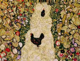 Garden Path with Chickens - Liberty Puzzles - 3