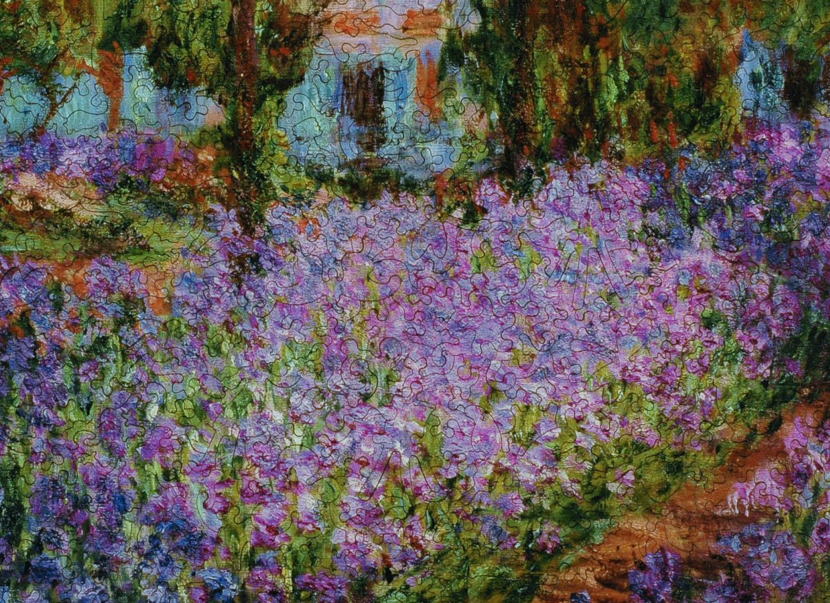 Artist S Garden At Giverny Wooden Jigsaw Puzzle