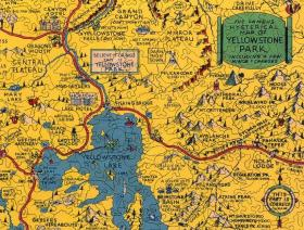 Hysterical Map of Yellowstone Park - Liberty Puzzles - 3