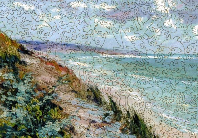 Cliffs by the Sea at Trouville - Liberty Puzzles - 8